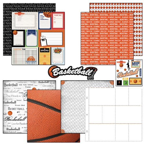 Scrapbook Customs Motivpapier und Aufkleber Scrapbook-Kit Basketball Tagebuch -