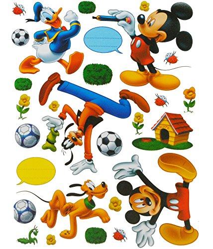 alles-meine.de GmbH 28 TLG. Set XL Sticker / Aufkleber -  Disney Mickey Mouse Donald  - Kinder Kind - Wasserfest Sticker - Wetterfest für Innen & Außen / Playhouse - Wandsticke