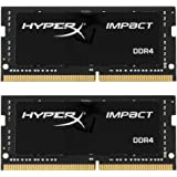 Kingston HyperX Impact HX424S14IBK2/32 32GB (2 x 16GB) RAM Kit (2400MHz DDR4 CL14 SODIMM, 1.2V, 260-pin)