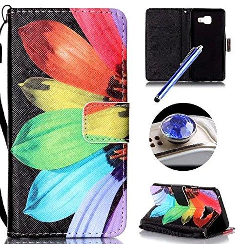 Etsue Custodia Samsung Galaxy A3 2016,Samsung Galaxy A3 2016 Cover,Creativo Disegni Wallet Case Con Stand (Stile Protezione Di Gas)