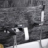 Das Kupfer heißen triple Wasserfall Badewanne einbauen Mischventil dusche Wasserhahn Dusche kleines Paket