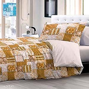 parure de lit une place et demie atlantique jaune fabriqu en italie cuisine. Black Bedroom Furniture Sets. Home Design Ideas