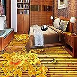 ShAH 3D-Peony Parkett Wohnzimmer Dreidimensionale Kulisse Große Benutzerdefinierte Non-Woven Wasserdicht Wallpaper 3D Tapete Hintergrundbild Wallpaper Wandmalerei Fresko Mural 300cmX200cm