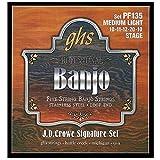GHS PF135 Jeu de 5 cordes pour Banjo J.D.Crowe Stage