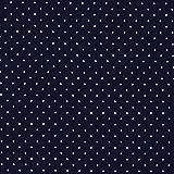 Unbekannt Jeans Punkte klein 2 marineblau — Meterware ab