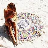 KING DO WAY Tapices Toallas de Playa Manta India Bohemia Para Decoración Para la Playa o Para Colgar en la Pared 160cm