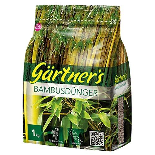 Gärtner´s Bambusdünger organisch-mineralischer NPK-Dünger 8+3+5 (+2) 1 kg für ca. 10 m²