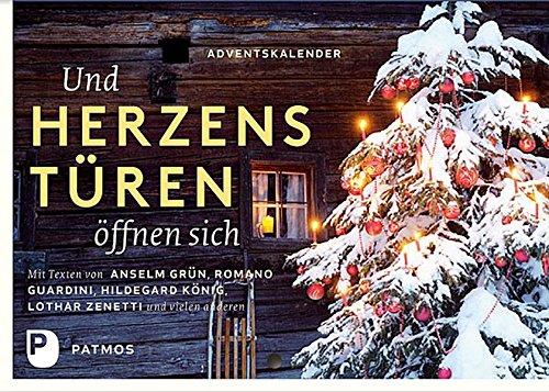 Buchcover Und Herzenstüren öffnen sich. Adventskalender mit Texten von Anselm Grün, Romano Guardini, Hildegard König, Lothar Zenetti und vielen anderen