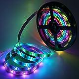 5M Pixel LED Strip, XUNATA WS2812B 5050 RGB adresserbara flexibel LED-remslampor Ljusband (5m 60 LED/m Inte Vattentät)