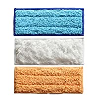 Top New 3Pcs/Lot Washable Microfibre Wet and Wet and Dry Sweeping Pad Wipes for iRobot Braava Jet 240