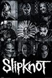 Slipknot PopArtUK – Póster Máscaras, madera, multicolor