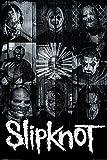 Slipknot PopArtUK–Póster Máscaras, madera, multicolor