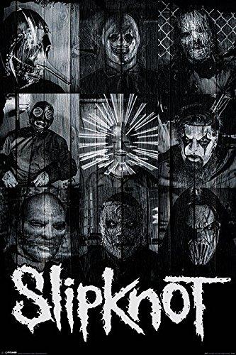 Slipknot-Maschere Maxi Poster, in legno, colore: multicolore