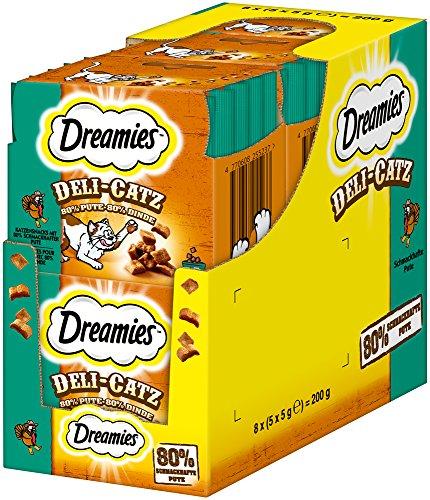 Dreamies Katzensnacks/Klassiker DeliCatz, 8 Beutel (8 x 25 g)