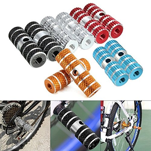 Preisvergleich Produktbild Bazaar 2PCs Fahrradpedale Axle Fußrasten für BMX Fahrrad Fahrrad Aluminiumlegierung multi Farben