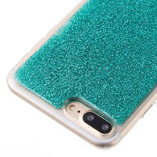 Handyhülle iPhone 6s Glitzer, LuckyW TPU Silicone Transparente Handyhülle für Apple iPhone 6 6s (4.7 zoll) 3D Bling Glitter Glitzer Shinny Sparkle Crystal Kristall Tasche Flexible Kratzer Stoßfest Scr Grün