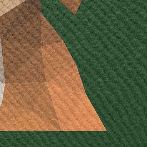 TEXLAB - Polygon Hund - Herren T-Shirt Flaschengrün