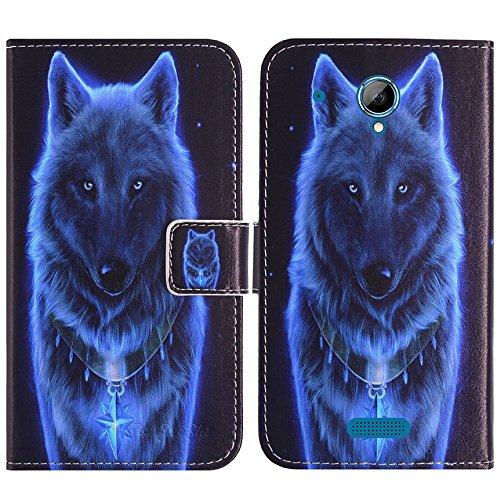 TienJueShi Loup Flip Book-Stand Cuir Housse Coque Etui Cas Couverture Protecteur Case Cover Skin Pour SFR Startrail 7 5 inch