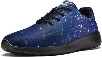 Lorvies - Scarpe sportive da uomo con cervo di galassia, scarpe sportive casual