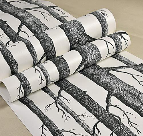 WORINA Schwarzer Baum-Waldtapeten-Rolle Für Wände Livingroom-Hintergrundpapier Der Tapete 3D Rollenabdeckungen 3D Papel De Parede