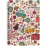 Notebooks for the love of writing. Beautiful designs outside, matte finish ruled sheets inside.Write, draw, work, whatever you do, you will never forget to leave your beloved notebook behind. This notebook combines utility with style. Size A5 (5.5 In...