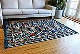 200x135 cm Orientalischer Teppich, Kelim,Kilim,Carpet,Bodenmatte,Bodenbelag,Rug Damaskunst S 1-4-401