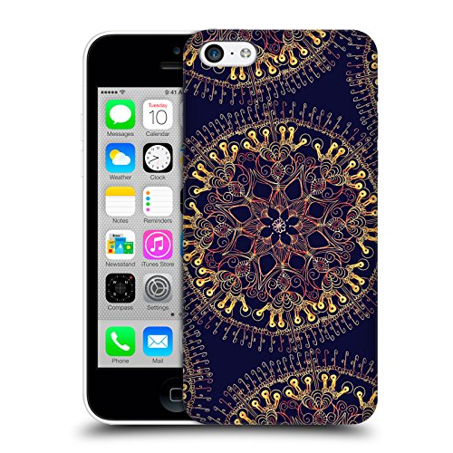 Offizielle Magdalena Hristova Muster Weiss Mandala Ruckseite Hülle für Apple iPhone 3G / 3GS Indisch