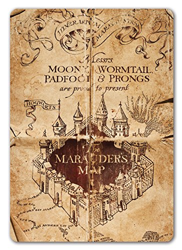 Marauders Wandschild Karte inspiriert von Harry Potter, Metall