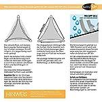 CelinaSun Sonnensegel PES Quadrat 2x2m anthrazit UPF 50+ Sonnenschutz inkl Befestigungsseile