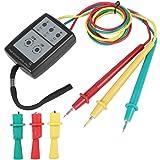 Akozon SP8030 Medidor de secuencia LED indicador de rotación de fase digital con indicación de zumbador Tensión de CA trifási