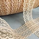 New 20 Yard Three Color Vintage Style Lace Ribbon Trimming Bridal Wedding Scalloped Edge 47mm 7LS03 1
