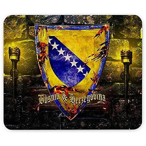 Escudo de armas colección 1, Custom adhesivo para MacBook piel de vinilo mangas de diferentes tamaños, Coat of Arms Bosnia and Herzegovina, Leather Mouse Mat