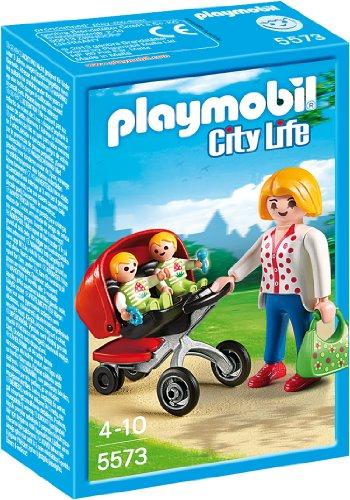 PLAYMOBIL 5573 - Zwillingskinderwagen (Mega-mutter)