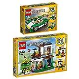Lego Creator 2er Set 31056 31068 Cabrio + Modernes Zuhause