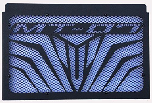 Protección de radiador para MT-07 2014/2017 Design Logo Negro Mate+ alambrera Azul