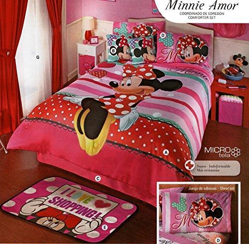Kitty4u Tröster Set-Minnie Amor-Matte-Full (Minnie Voller Größe Bettwäsche-set)