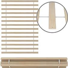 Homelux Lattenrost Rollrost Massivholz naturbelassen Rahmenlos, Roste mit Geraden stabilen Leisten, erhältlich für Matratzen 90/140 /180 x 200 cm