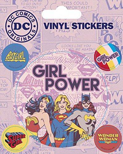 1art1 94967 DC Comics - Girl Power Poster-Sticker Tattoo Aufkleber 12 x 10 cm