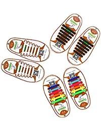 Cordones elásticos para zapatos (de mocent, Lazy No Tie cordones para niños y adultos, deportes cordones para correr y entrenar, fácil de lavar de silicona cordones para zapatos, con múltiples Color (adulto)