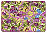 Alfombra de niños Sugar Town, es una de las alfombras de juegos más populares con motivos de calles que garantiza la diversión tanto para niños como para niñas, disponible en varios tamaños, Tamaño:100x165cm