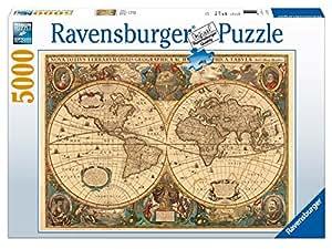 Ravensburger - 17411 - Puzzle - 5000 Pièces Mappemonde antique