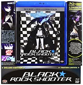 Black Rock Shooter #01 (Eps 01-04)  (Limited Ed) (Combo Blu-Ray+Dvd+Figure)