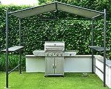 BBQ Grill Pavillon | Dunkelgrau | 265 x 150 cm | SORARA | PVC 610 g/m² | Garten & Outdoor | Partyzelt