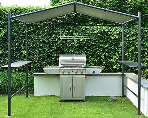 Pavillon Grill BBQ | Gris foncé | 265 x 150