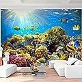 Fototapete Korallenriff - Vliestapete - Wandtapete - Vlies Phototapete - Wand - Wandbilder XXL - !!! 100% MADE IN GERMANY !!! Runa Tapete 9073aP