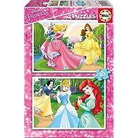 Disney Princesas Puzzle de madera, 2 x 20 (Educa Borrás 16846)