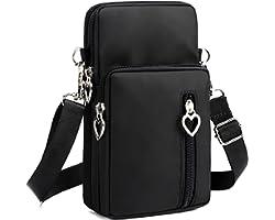 LassZone Women Girls Zipper Waterproof Nylon Crossbody Bags Wallet Cellphone Purse Shoulder Bag Wristlet Handbags