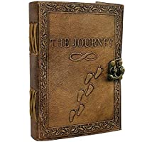 "‏‪Journal Writing Notebook - Handmade Leather Bound Daily Notepad for Men & Women Unlined Paper 7"" x 5"" Inches, Best Gift for Art Sketchbook, Travel Diary & Notebooks to Write in by Aislinn Leather‬‏"