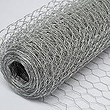 Recinto in Rete Metallica | Maglia Esagonale 25x25mm | Recinzione per animali e piante lunga 25 m| Altezza 100 cm| Zincato 0,6mm