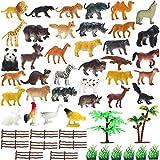 Best Play Sets - kidzbell Mini Jungle Animals Figure Toys Play Set Review
